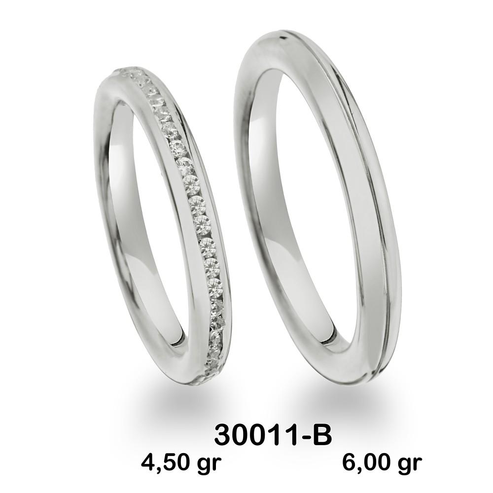 Beyaz Alyans Modelli-30011-B