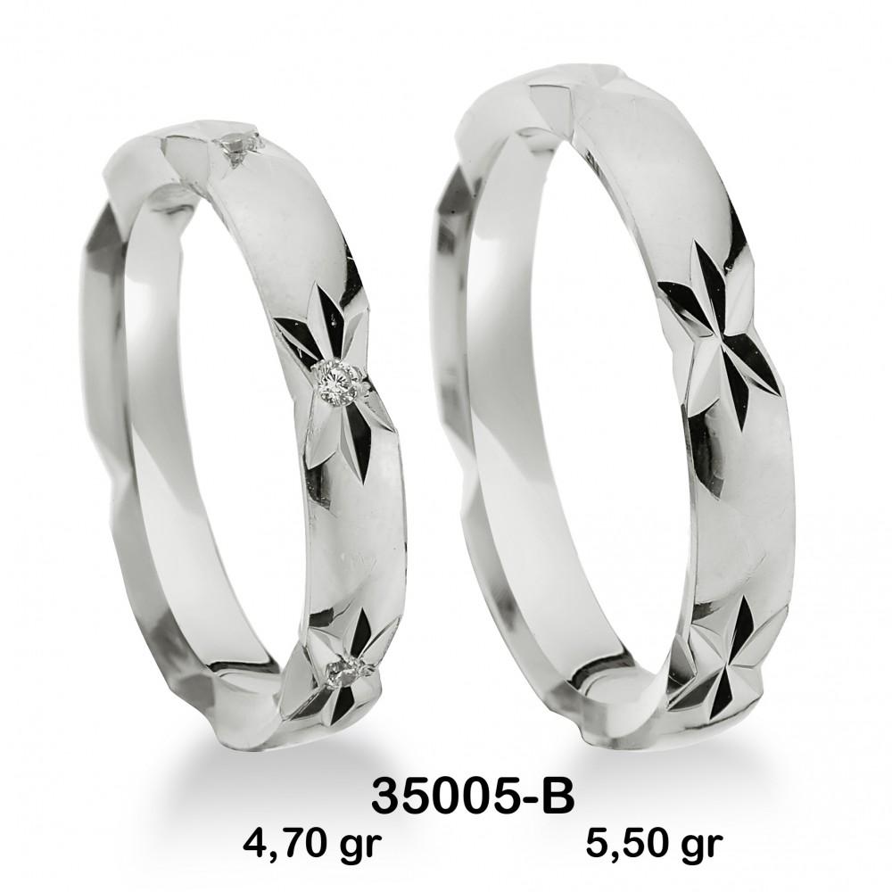 Beyaz Alyans Modelli-35005-B