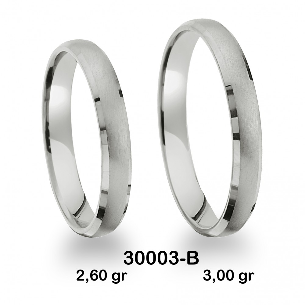 Beyaz Alyans Modeli-30003-B