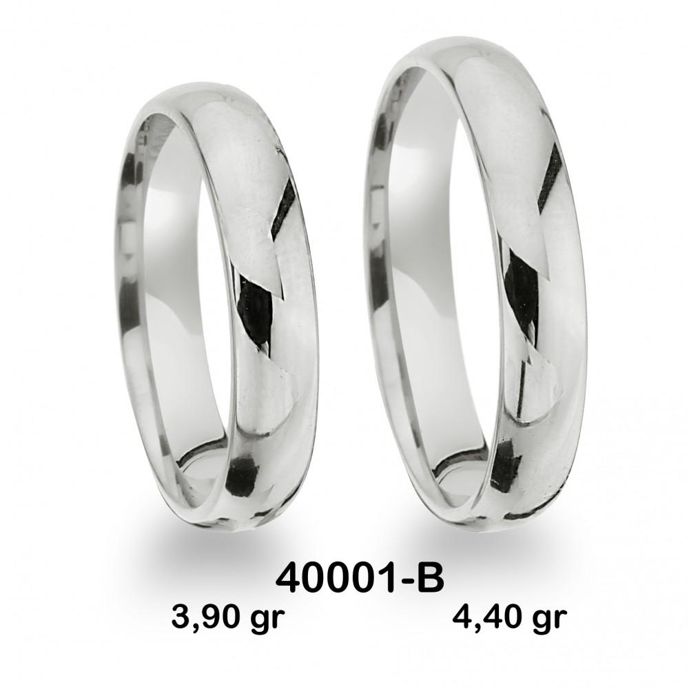 Beyaz Alyans Modeli-40001-B
