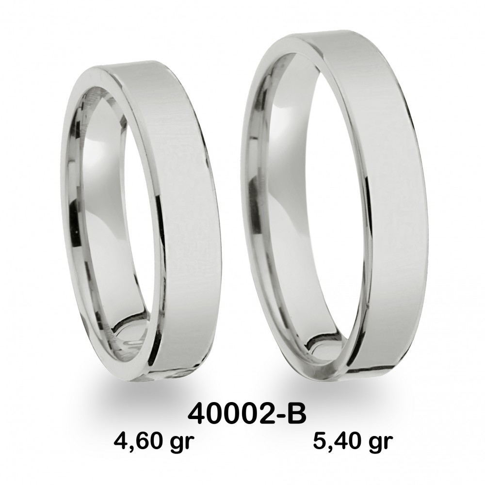 Beyaz Alyans Modeli-40002-B