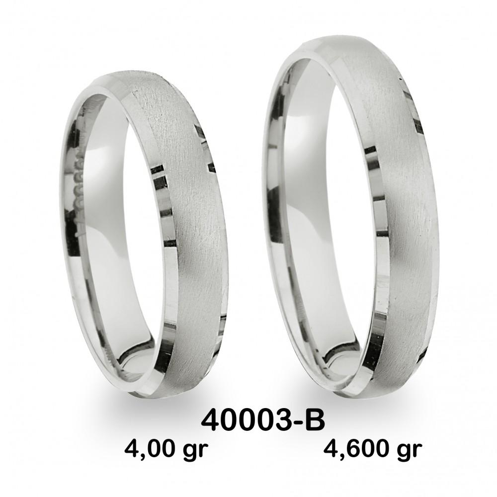 Beyaz Alyans Modeli-40003-B