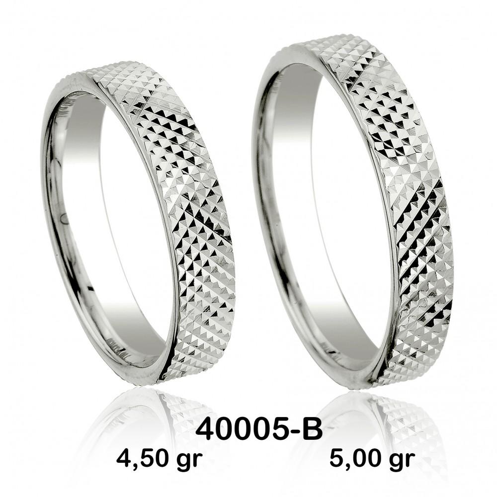 Beyaz Alyans Modeli-40005-B