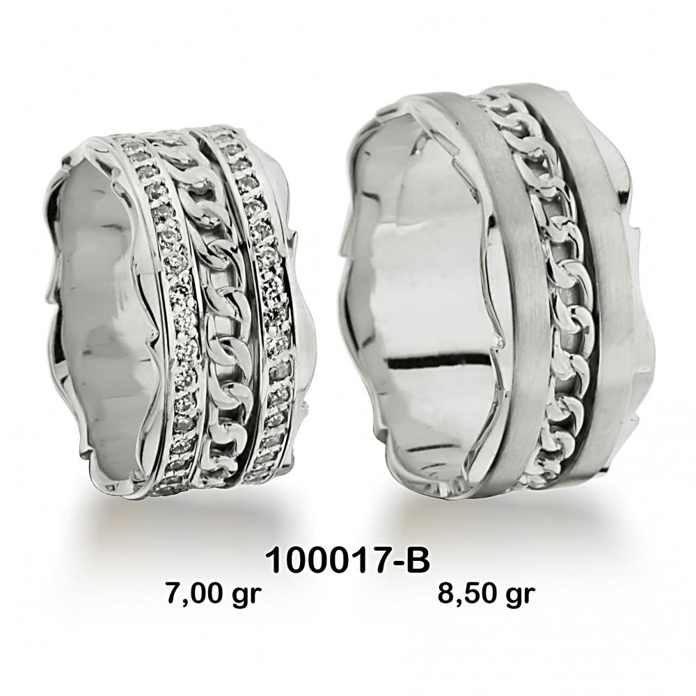 Beyaz Alyans Modeli-100017-B