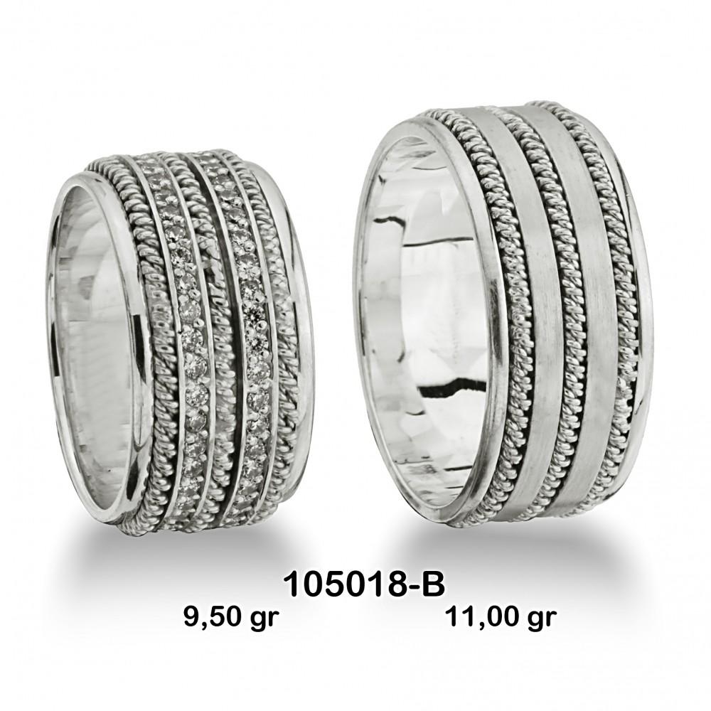 Beyaz Alyans Modeli-105018-B