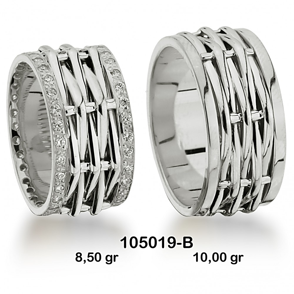 Beyaz Alyans Modeli-105019-B