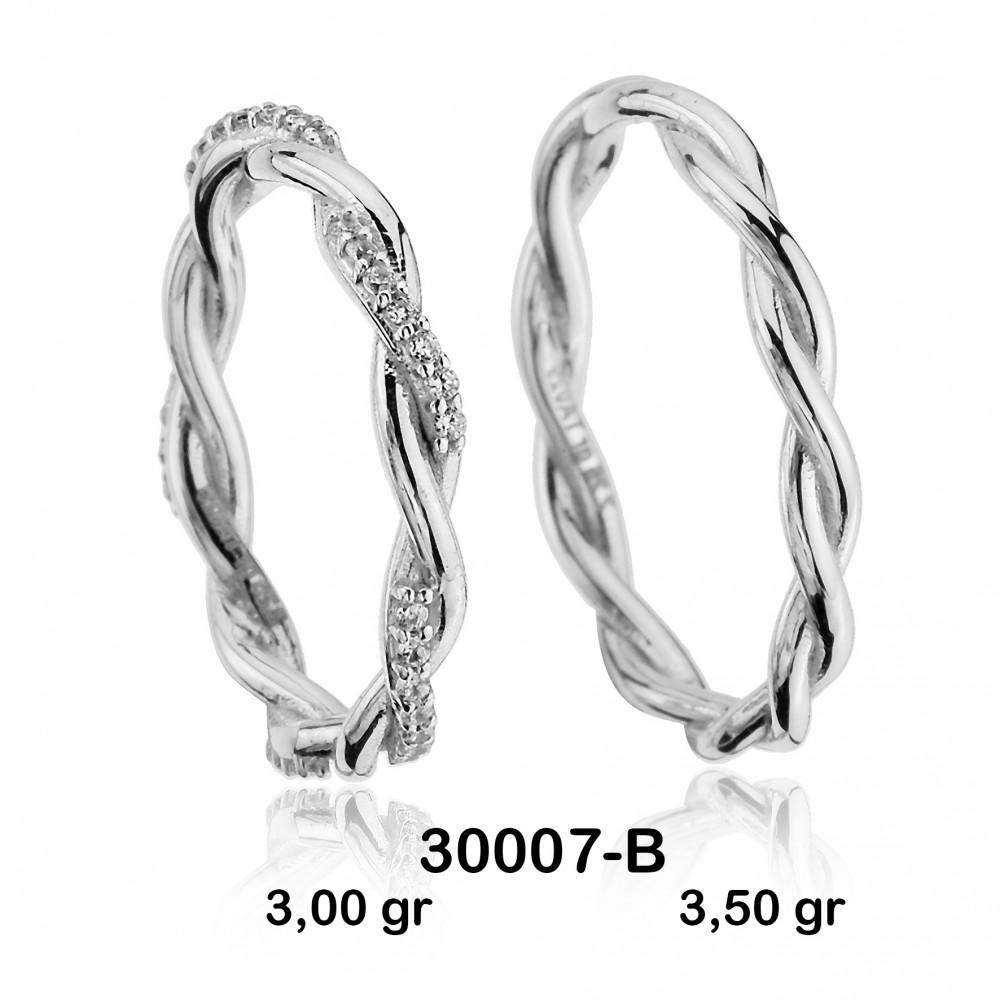 Beyaz Alyans Modeli-30007-B