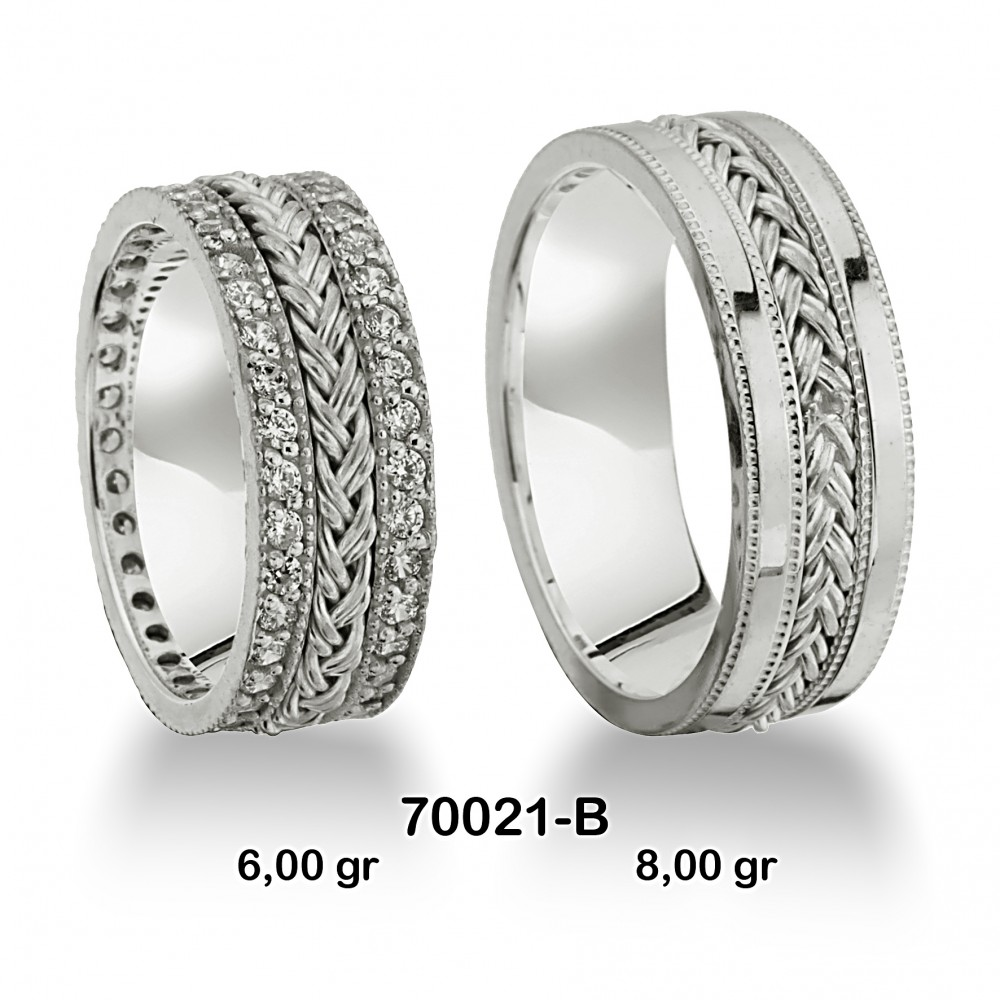 Beyaz Alyans Modeli-70021-B