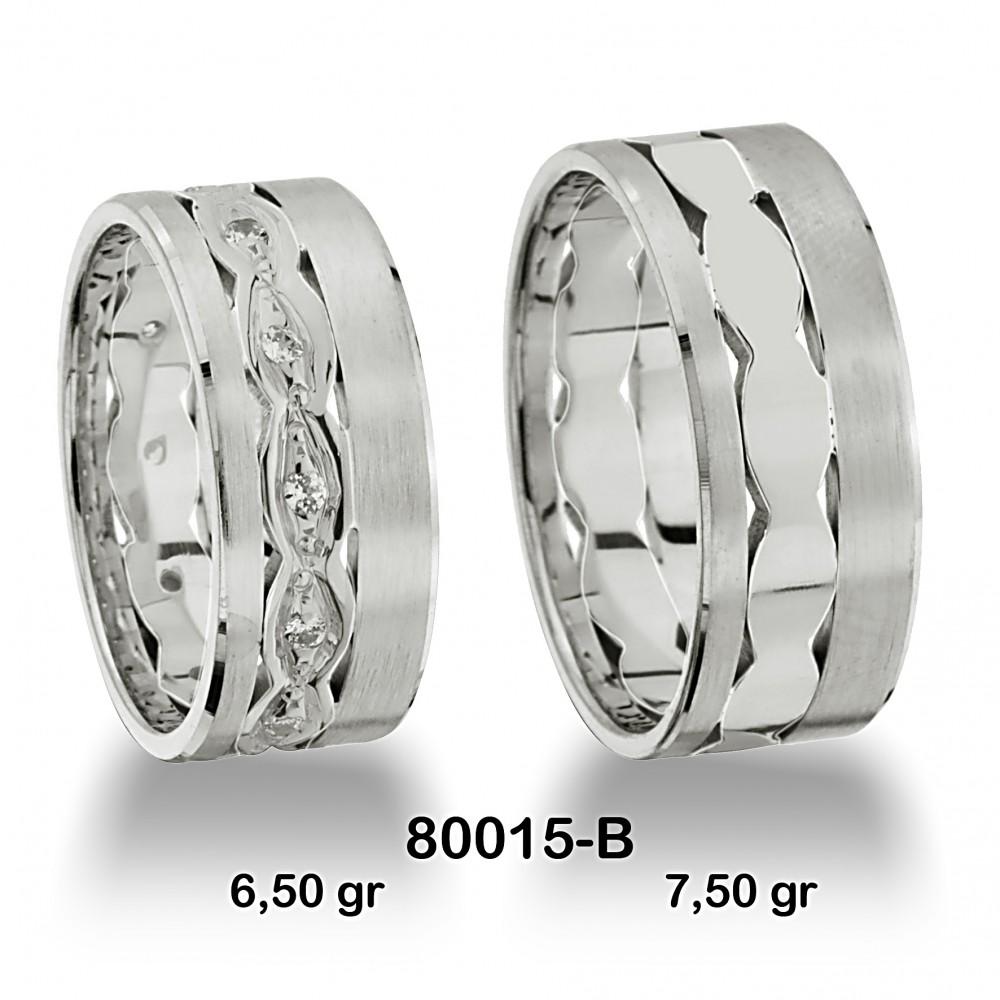 Beyaz Alyans Modeli-80015-B