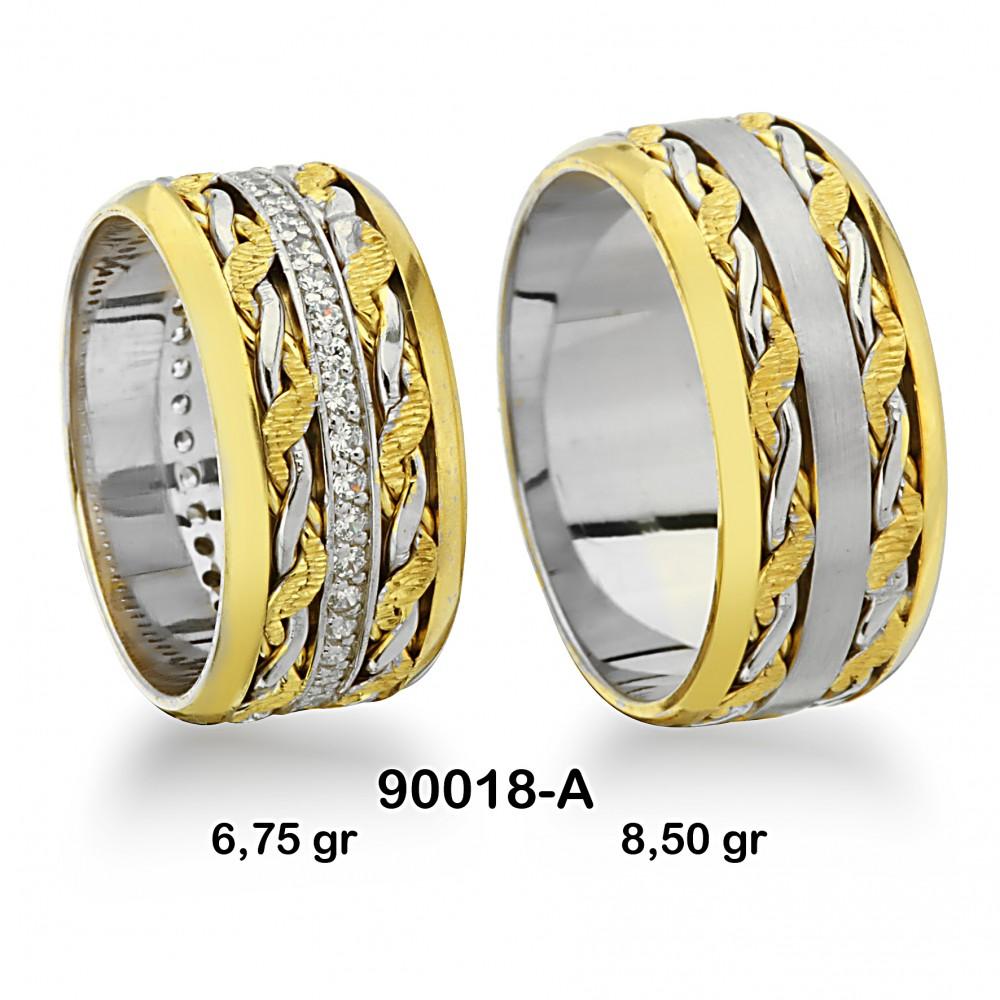 Sarı Alyans Modeli-90018-A
