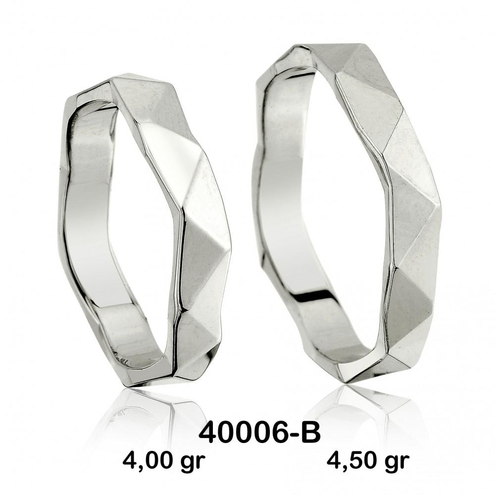 Gümüş Alyans Modeli-40006-B