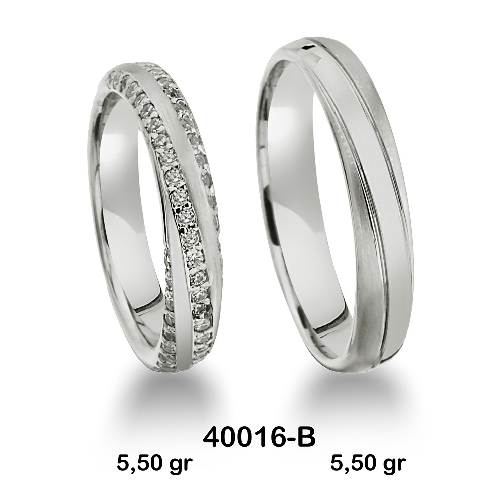 Gümüş Alyans Modeli-40016-B