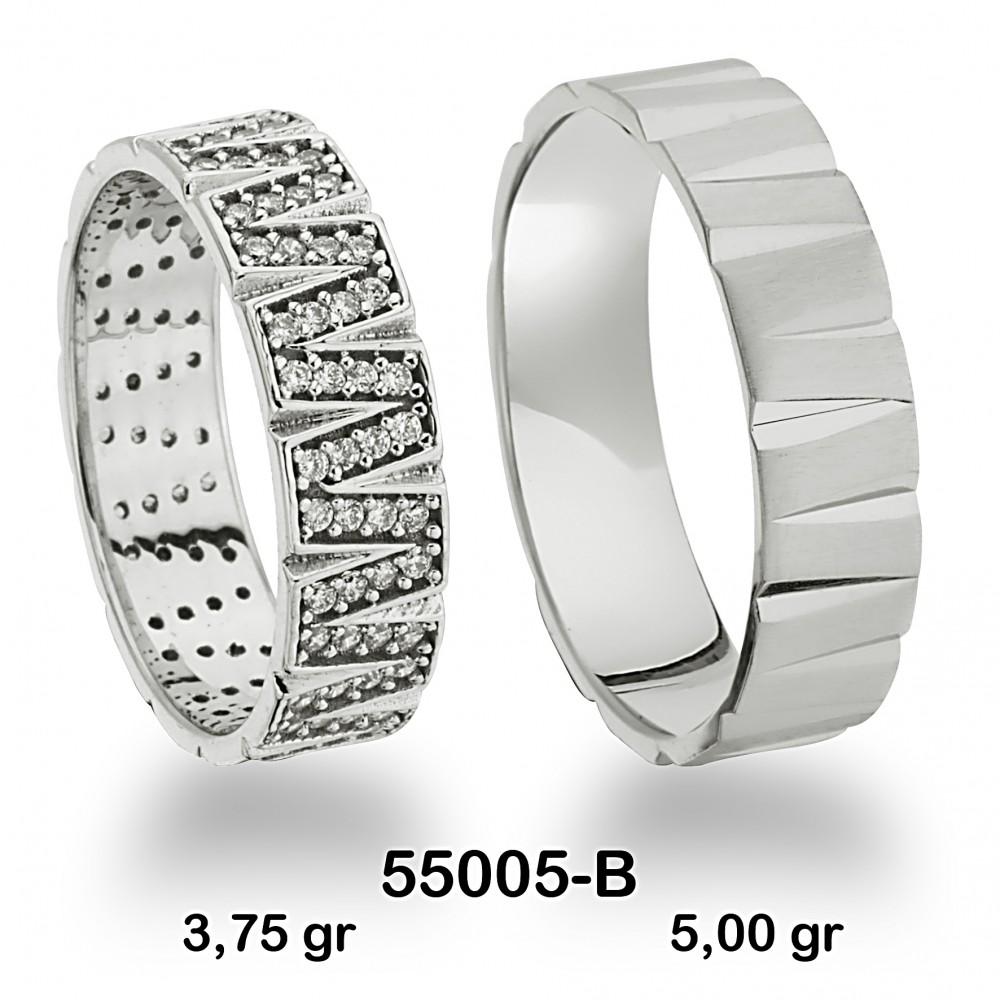 Gümüş Alyans Modeli-55005-B
