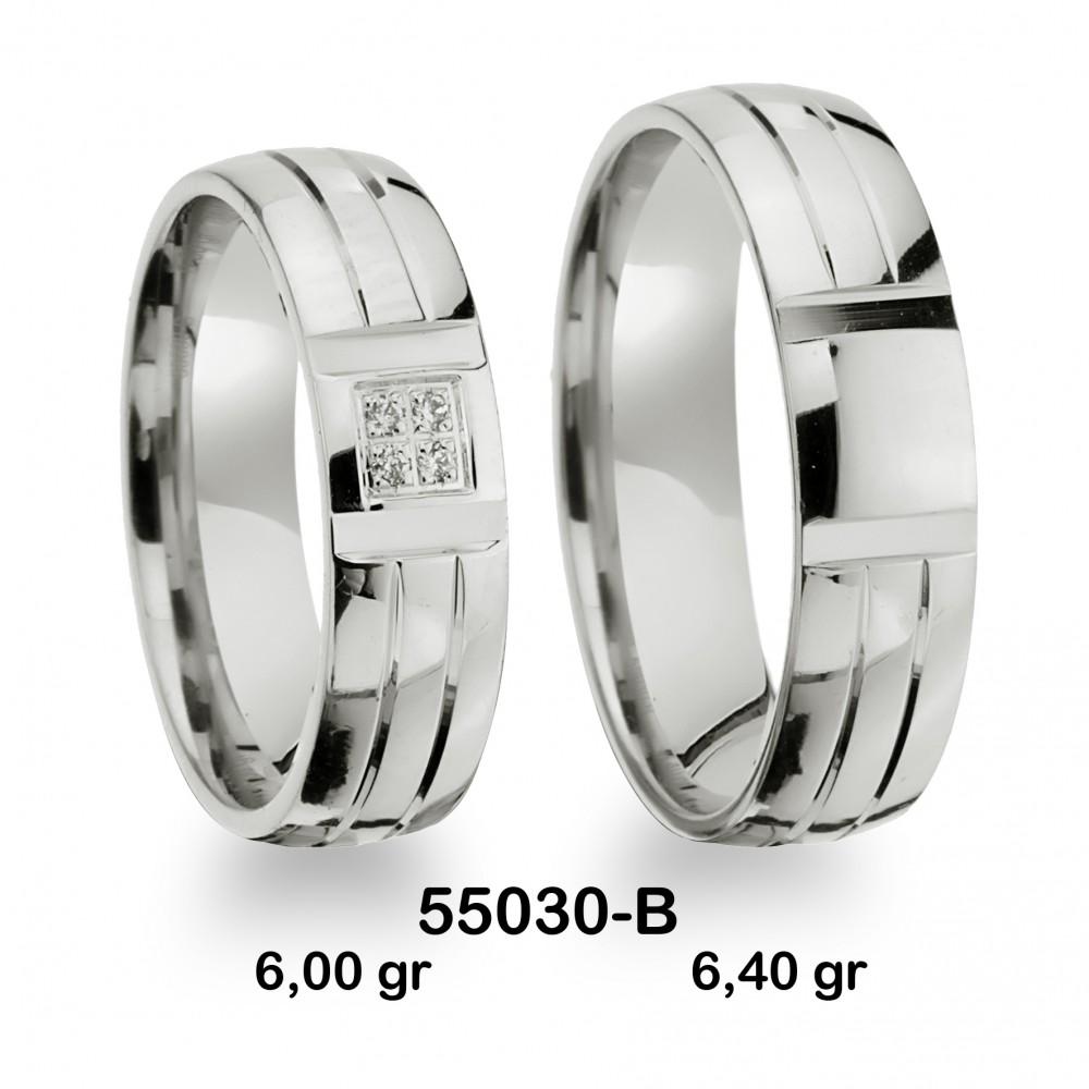 Gümüş Alyans Modeli-55030-B