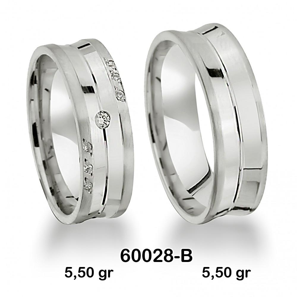 Gümüş Alyans Modeli-60028-B