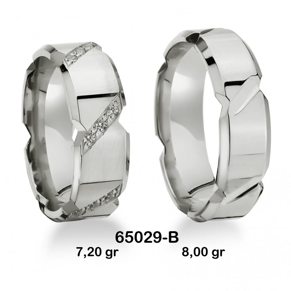 Gümüş Alyans Modeli-65029-B