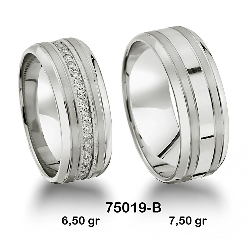 Gümüş Alyans Modeli-75019-B