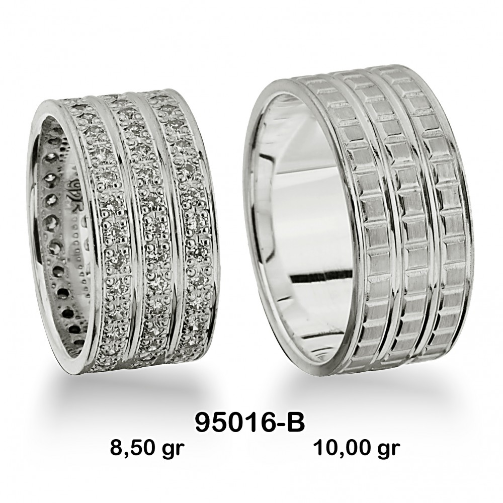 Gümüş Alyans Modeli-95016-B