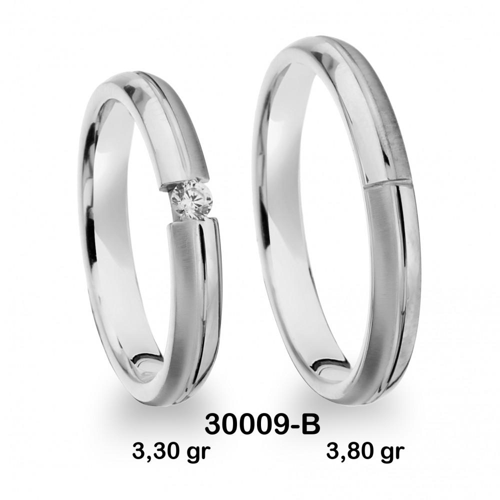 Pırlantalı Beyaz  Alyans Modeli-PIR30009-B