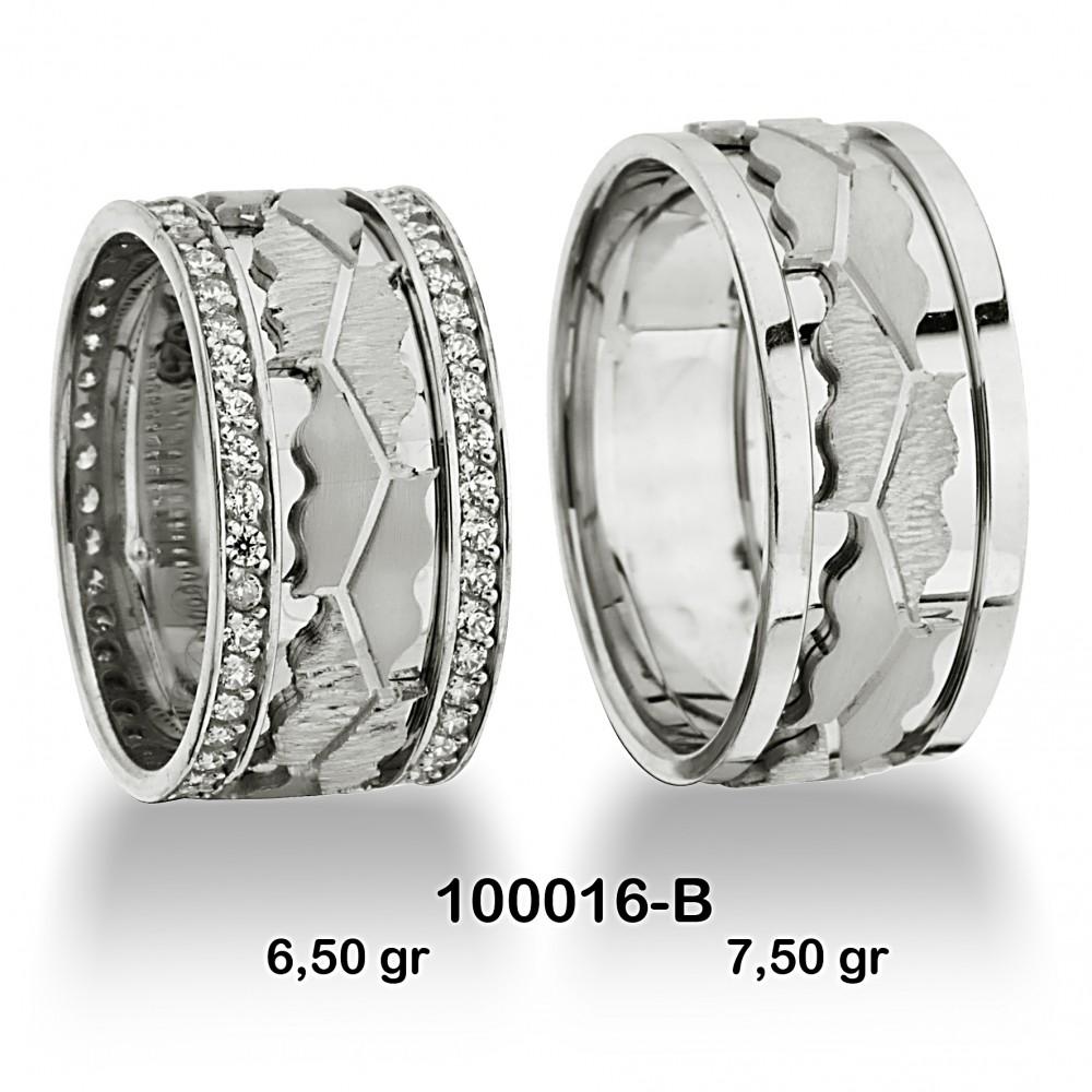 Beyaz Alyans Modeli-100016-B