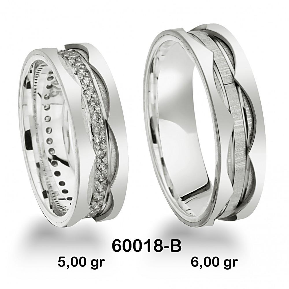 Beyaz Alyans Modeli-60018-B