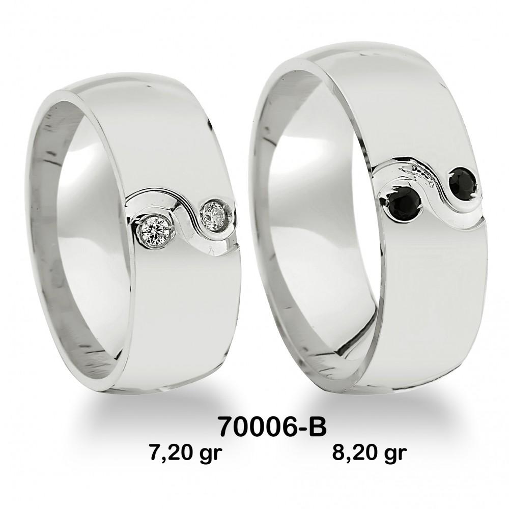 Beyaz Alyans Modeli-70006-B
