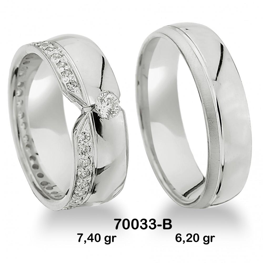 Beyaz Alyans Modeli-70033-B