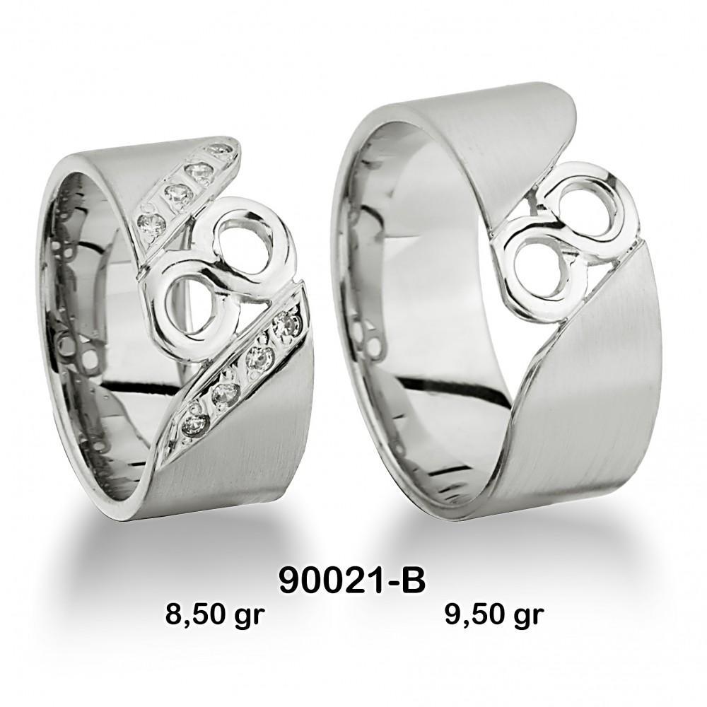 Beyaz Alyans Modeli-90021-B